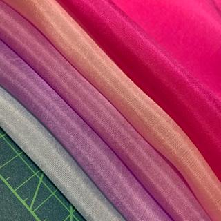 高級6匁羽二重紫ピンク5枚セット(生地/糸)