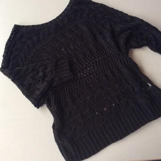 ジーユー(GU)の【未使用】かぎ編みセーター(ニット/セーター)