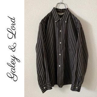 Galey & Lord 60s マルチストライプ BDシャツ ヴィンテージ(シャツ)