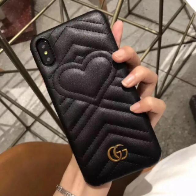 iphone8 冷却 ケース / Gucci -  IPhone ケース ブラックの通販 by SLY|グッチならラクマ