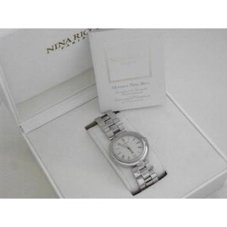 ニナリッチ(NINA RICCI)のNINA RICCI 腕時計 箱 ギャランティ付き スイス製 シルバー ローマン(腕時計(アナログ))