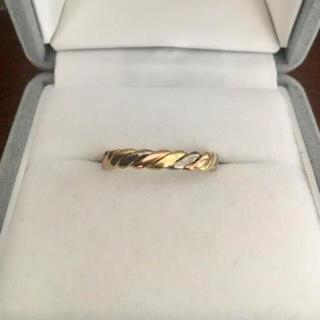 クリスチャンディオール(Christian Dior)のDior クリスチャンディオール スリーカラーリング K18YG WG 3.8g(リング(指輪))