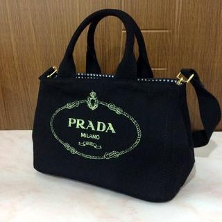 08a5986a116f プラダ(PRADA)のPRADA ブラック カナパ ミニ Sサイズ ギンガム(ショルダーバッグ)