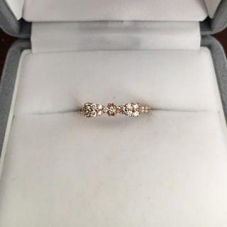 ポンテヴェキオ(PonteVecchio)のポンテヴェキオ ダイヤモンド リボン リング K18PG 0.35ct 1.9g(リング(指輪))