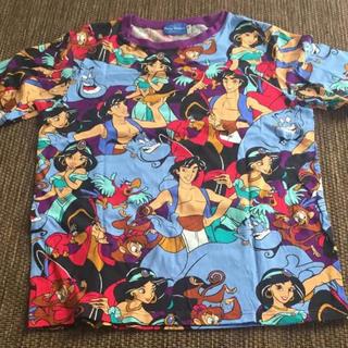 ディズニー(Disney)の美品 アラジン 総柄 Tシャツ(Tシャツ(半袖/袖なし))