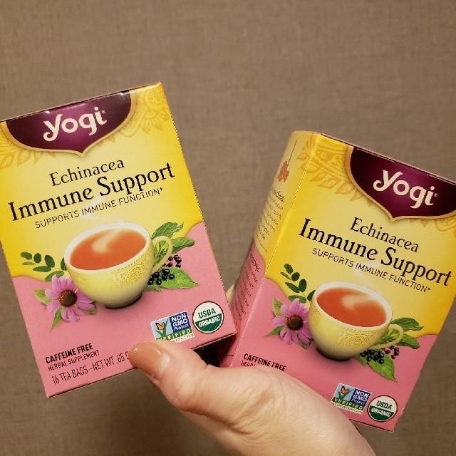 yogi tea エキナセア免疫サポート2箱セット 食品/飲料/酒の飲料(茶)の商品写真