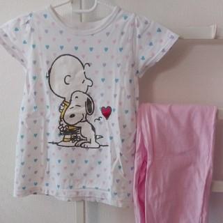 ジーユー(GU)の☆120cm GU スヌーピー パジャマ 半袖(パジャマ)