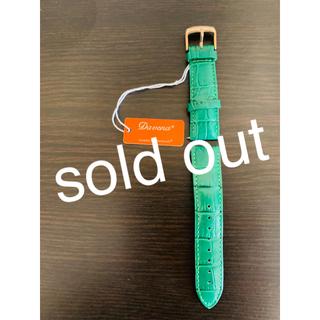 シチズン(CITIZEN)のダベナ 腕時計付け替えベルト 緑 ピンクゴールド Davena 【送料無料】(腕時計)