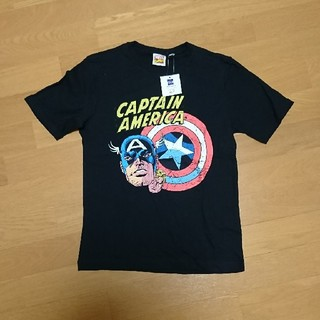 ジーユー(GU)のguマーベル半袖Tシャツ 黒 150㎝(Tシャツ/カットソー)