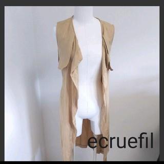 ecruefil - ecruefil エクリュフィル ロングベスト