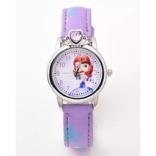 腕時計 小さなプリンセスソフィア パープル キッズ ティーン アナログ(キャラクターグッズ)