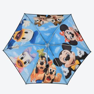 ディズニー(Disney)の新品未使用❤️折りたたみ傘 晴雨兼用 実写 傘 東京ディズニーリゾート(傘)