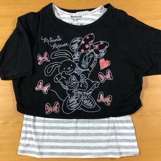 シマムラ(しまむら)のミニーちゃん タンクトップ付き半袖トップス(Tシャツ/カットソー)