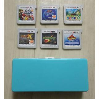 ニンテンドー3DS(ニンテンドー3DS)の3DS 6本ソフト まとめ売りソフト収納ケース付き(携帯用ゲームソフト)