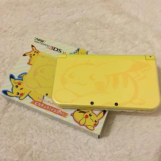 ニンテンドー3DS(ニンテンドー3DS)のNewニンテンドー3DS LL ピカチュウ 限定(携帯用ゲーム本体)