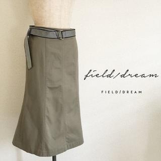 フィールドドリーム(field/dream)のフィールドドリーム☆ベルト付きカーキスカート(ひざ丈スカート)