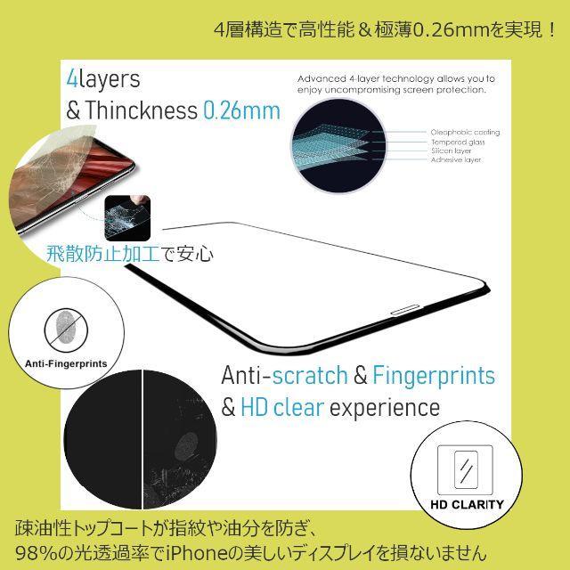 iPhone(アイフォーン)のガラス スマホ/家電/カメラのスマホアクセサリー(保護フィルム)の商品写真