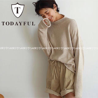 トゥデイフル(TODAYFUL)のTODAYFUL【新品タグ付】Roundhem Linen Knit(ニット/セーター)
