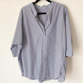 ジーユー(GU)の美品♡ストライプスキッパーシャツ(シャツ/ブラウス(長袖/七分))