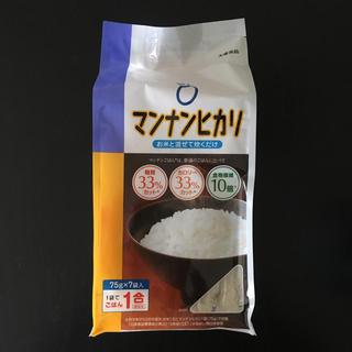 オオツカセイヤク(大塚製薬)のマンナンヒカリ 75g×7袋入(米/穀物)