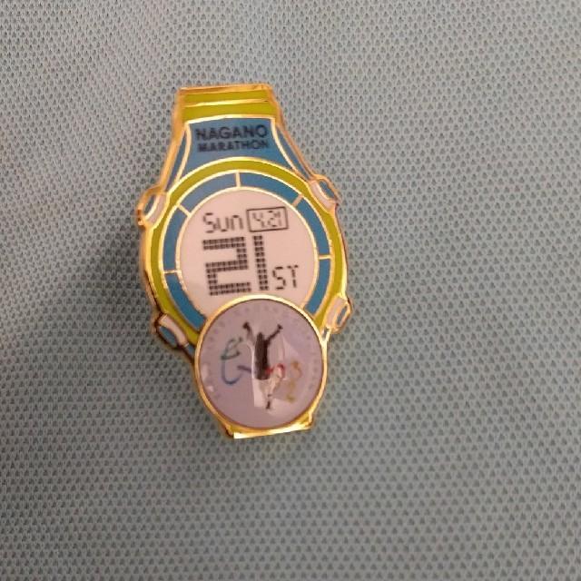 長野マラソン21周年バッチ エンタメ/ホビーのアニメグッズ(バッジ/ピンバッジ)の商品写真