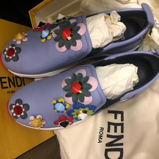 フェンディ(FENDI)の新品 *FENDI*フラワー スリッポン スニーカー36(スニーカー)
