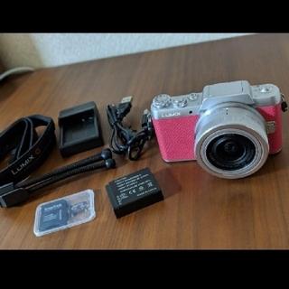 パナソニック(Panasonic)のLUMIX Gf7 人気なピンク ミラーレス一眼 DMC-7D7(ミラーレス一眼)