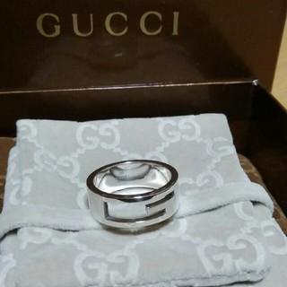 グッチ(Gucci)の☆鏡面仕上げ☆ 19号表記 GUCCI Gリング ブランデッド リング 指輪(リング(指輪))