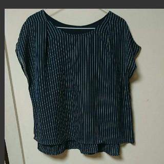 シマムラ(しまむら)のLL~3L 爽やかストライプシャツ トップス 新品(シャツ/ブラウス(半袖/袖なし))