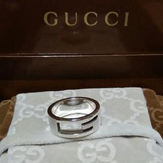 グッチ(Gucci)の☆鏡面仕上げ☆ 14号表記 GUCCI Gリング ブランデッド リング 指輪(リング(指輪))