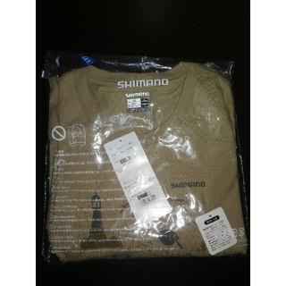 シマノ(SHIMANO)の【新品】シマノ コットンTシャツ(長袖) SH-095R ベージュ XLサイズ (ウエア)