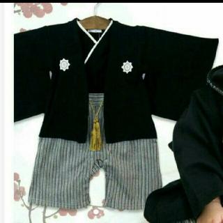 ニシマツヤ(西松屋)の【おすぎ様専用】袴ロンパース 男の子 80 着物ロンパース(和服/着物)