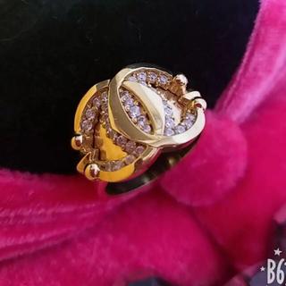 18金18K ゴールドダイヤ 指輪 ゴージャス 指輪 リング(リング(指輪))