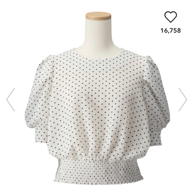 GU(ジーユー)のGUドットプリントブラウス(5分袖)GR レディースのトップス(シャツ/ブラウス(半袖/袖なし))の商品写真