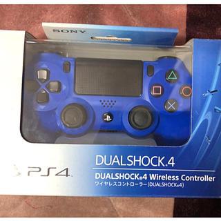 プレイステーション4(PlayStation4)のPS4 コントローラー DUALSHOCK4 デュアルショック ブルー 純正品(その他)