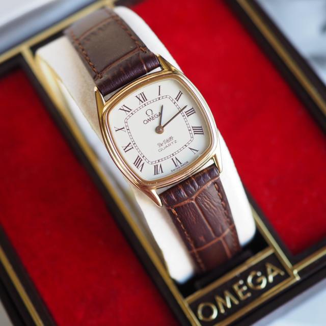 OMEGA - 極美✨OMEGA 金張り 保証書付 新品ベルト✨トゥモローランド ロンジンの通販