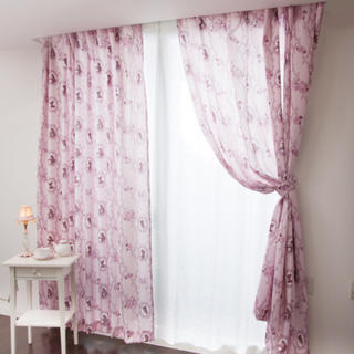 ディズニー(Disney)のプリンセスクラシカルプリンセス遮熱カーテン2枚セット(カーテン)