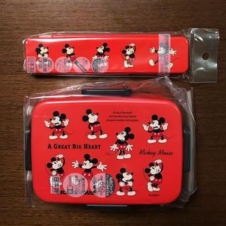 ディズニー(Disney)の★ミッキー★お弁当箱(650ml)&お箸とスプーンのセット★日本製★新品未使用★(弁当用品)