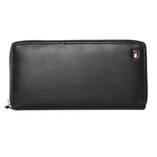 トミーヒルフィガー(TOMMY HILFIGER)の新品 トミーヒルフィガー 長財布 メンズ 黒レザー 31TL13X009 001(長財布)