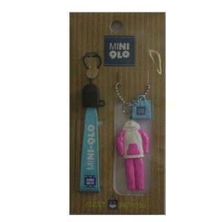 【送料無料】MINIQLO ミニクロマスコット付きストラップ 根付 ピンク(キャラクターグッズ)