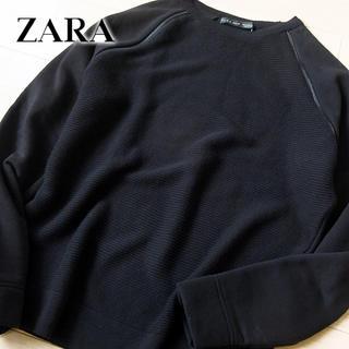 ザラ(ZARA)の超美品 (USA)M ザラ ZARA MAN メンズ 素材切替カットソー(ニット/セーター)