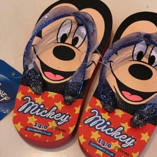 ディズニー(Disney)のミッキー♡ビーチサンダル タグ付新品未使用(サンダル)
