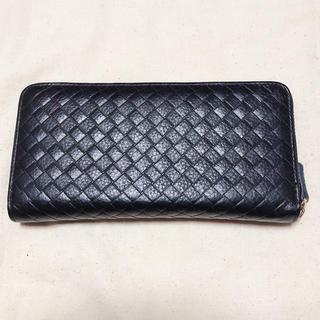 ザラ(ZARA)の財布 長財布 新品未使用 黒 レザー(財布)