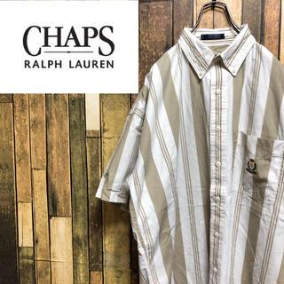 ラルフローレン(Ralph Lauren)の【激レア】チャップスラルフローレン☆刺繍ロゴ半袖マルチストライプシャツ 90s(シャツ)