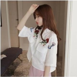 大流行中♥今期マストバイ♥刺繍シャツ♥(シャツ/ブラウス(長袖/七分))
