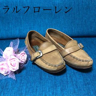 ラルフローレン(Ralph Lauren)のポロラルフローレン5 1/2Bベージュグッチプラダフェラガモ ヴィトン エルメス(ローファー/革靴)