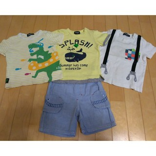 a65d300e112aa クレードスコープ(kladskap)のkladskap Tシャツ3枚 ハーフパンツ1枚(