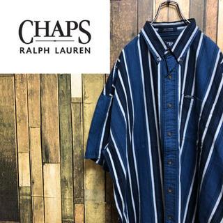 チャップス(CHAPS)の【激レア】チャップスラルフローレン☆ロゴタグ半袖マルチストライプシャツ 90s(シャツ)