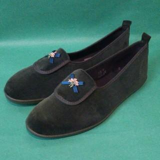 アサヒシューズ(アサヒシューズ)のアサヒ靴  グリーン ベルベット フラットシューズ(その他)
