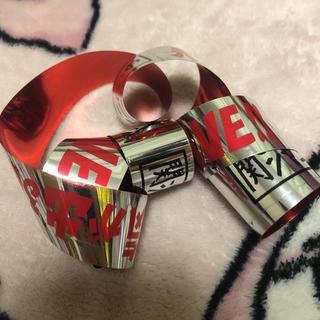 カンジャニエイト(関ジャニ∞)の関ジャニ∞の元気が出るLIVE!! 銀テープ 赤 渋谷すばる(アイドルグッズ)